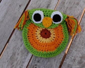 Owl coin purse PDF crochet pattern