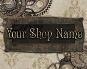 Custom Etsy Shop Banner Set (Pre-made) - Steampunk 2