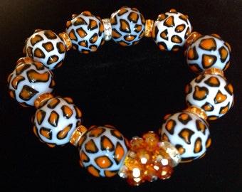 Leopard Print Stretch Bracelet