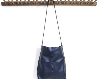 Alesia - Leather Bag - Sapphire