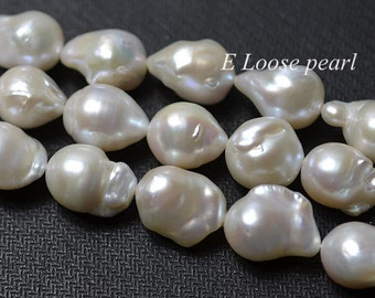 flameball Pearl Natural white luster pearl Nucleated Pearl Loose pearl earring bead 12-13mm 24Pcs wedding Full Strand Item No : PL4223