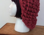 Becca Cook - The Rose, crochet snood slouch hat.
