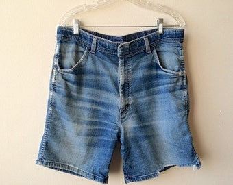 Vintage Distressed Faded Jean Shorts