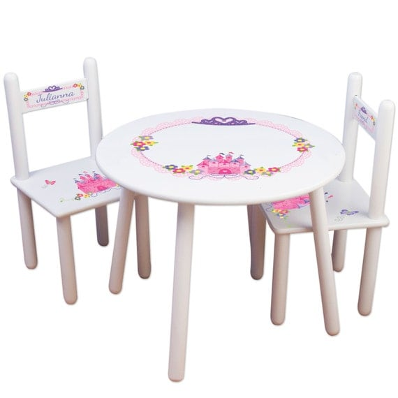 Girls Princess Table Chair Set Frozen Kids Furniture – Girls Table and Chair