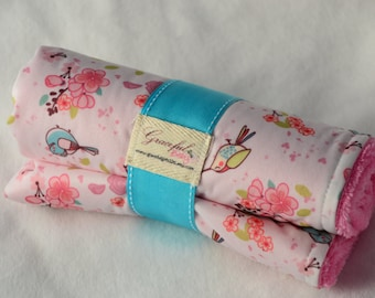 Birds & Cherry Blossoms  - Waterproof Baby Changing Pad (Made to Order)