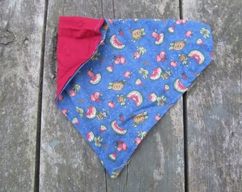 Choose Your Size Over the Collar Reversible Dog Bandana