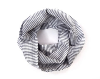 Blue Striped Scarf, Kids Scarf, Toddler Scarf, Toddler Girl, Toddler Boy, Unisex Scarf, Children's Scarf, Children's Clothing, Ready to Ship