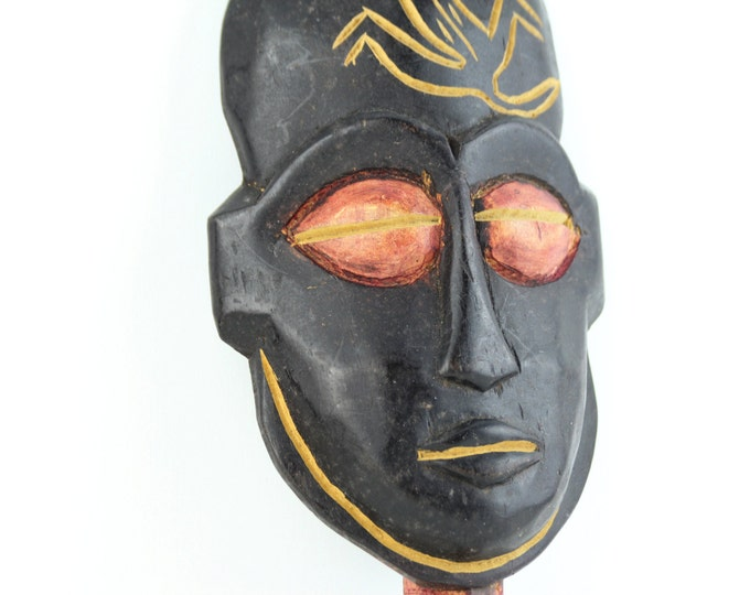 Beach Decor Vintage Wooden Mask by SEASTYLE