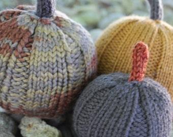 Knitted Pumpkins Fall Autumn Halloween Thanksgiving