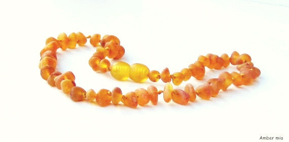 Baltic Amber teething necklace- Raw natural sea amber