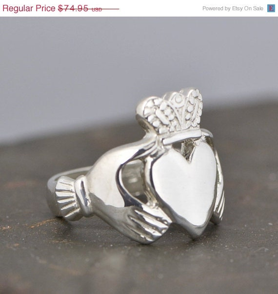 sale s sterling silver claddagh ring by