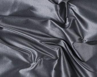 "54"" Wide 100% Silk Taffeta Iridescent Silver by the yard"