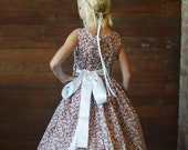 Strawberry print and floral  flower girl dress
