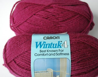 2 skeins Caron Wintuk 4 rosewine