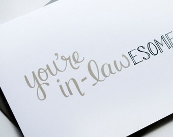 You're in-lAWESOME Greeting Card