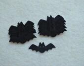 20 Piece Die Cut Wool Blend Felt, Small Bats