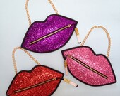 Glitter Smoking Lips Clutch Handbag - more colours available!