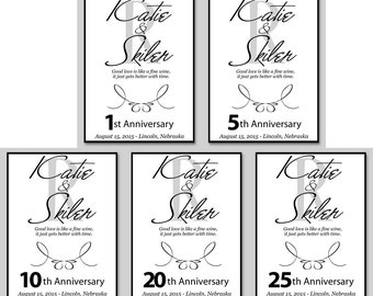 5 Wine Labels - NO PEN included - Wine Bottle Wedding Labels - Adhesive Labels - Wine Bottle Guestbook