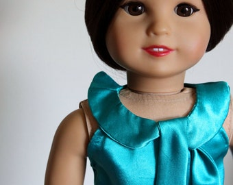 american girl doll dress and overcoat: tinseltown