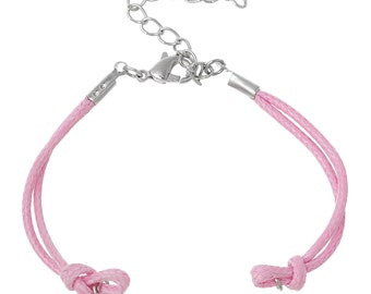 "10 Pink Braiding Bracelets - WHOLESALE - Nylon - 14.3cm - 5 5/8""  Long - Ships IMMEDIATELY from California - CH532a"