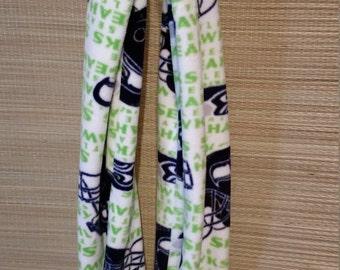 Seahawks infinity fleece scarf