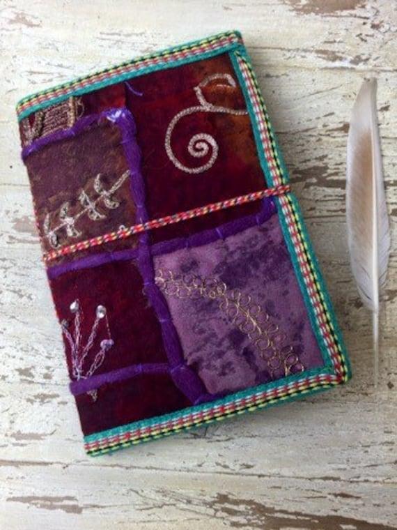 PURPLE HAZE JOURNAL - Indian sari notebook -Student -Journal -Back to school -Sketch book -Handmade paper -Bespoke Notebook- Diary- Artist