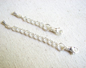 Add - On Extension Chain, Silver Extending Chain for Lengthening Necklace or Bracelet Extender