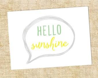 Hello Sunshine Note Card Set of 10