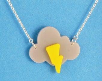 Acrylic Storm Cloud Necklace