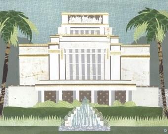 Laie, Hawaii LDS Temple PRINT (Various Sizes)