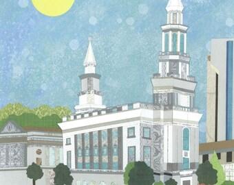 Philadelphia, Pennsylvania  LDS Temple PRINT (Various Sizes)