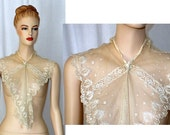 1800's Vintage Lace Fichu Collar French Point De Venise