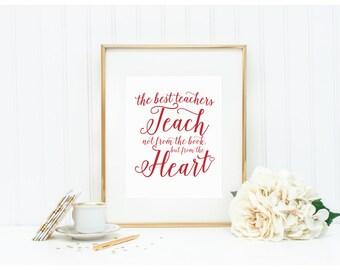 """Teacher Art Print - """"The Best Teachers"""" - Mirabelle Creations"""