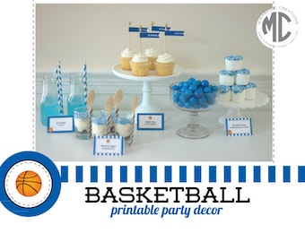 Basketball Printable Digital Party Collection - Mirabelle Creations