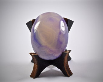 Purple Agate flat back cabochon - stone for bezel or wire wrapping - Fabby Dabby Stones