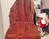Vintage 70' Poland Patchwork brown leather bag