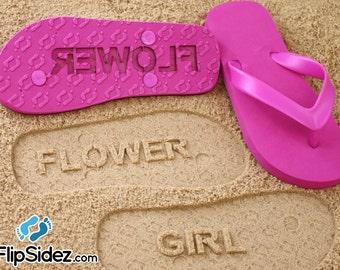 Flower Girl Flip Flops Personalized Bridesmaid Wedding Bridal