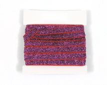 Glitter Elastic, stretch 3/8th inch For Glitter Headbands and Hairties- 5 or 10 yards - Fuchsia