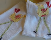White Washed Tea Towel Set of 2
