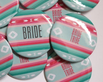 wedding party gifts bridesmaids, bachelorette party, bridesmaids buttons, wedding gift ideas, custom buttons, bride tribe
