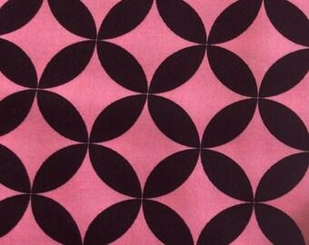 Alexander Henry - Diamond Eye - Black & Pink - 6690C - 1/2 Yard