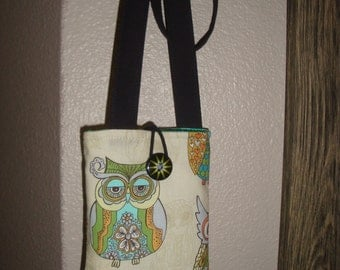 Mini cell/cards bag with owls
