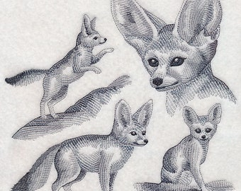 Custom Embroidered Fennec Fox Sweatshirt S-3XL