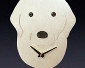 Labrador Retriever Dog Art - Labrador Retriever Clock - by Anita Edwards