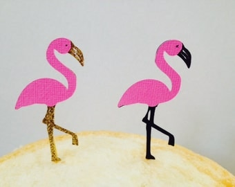 Flamingo Cupcake Toppers ~ Flamingo Party ~ Birthday ~ Shower ~ Party Decor