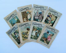 "1920 children's magazines, 8 issues of  ""The Children's Magazine"" from 1920"