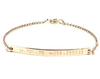Skinny Jessica bracelet. Gold filled or Sterling Silver.