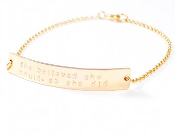 Jessica bracelet. Gold filled or Sterling Silver.
