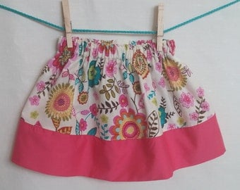 pink/floral skirt size 2t