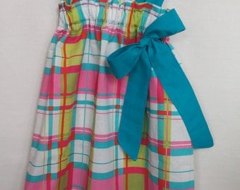 plaid dress size 3t